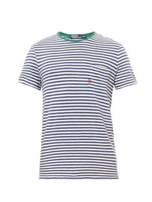 Striped crew-neck T-shirt