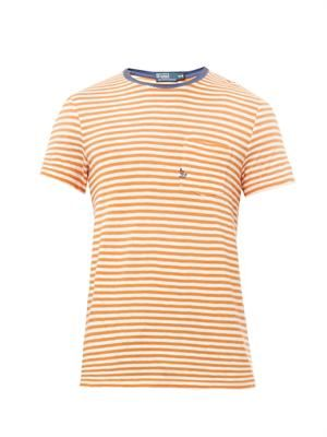 Classic-fit striped crew-neck T-shirt