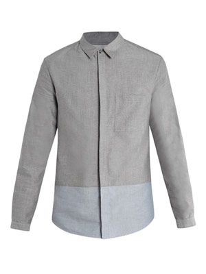 Bi-colour Oxford shirt