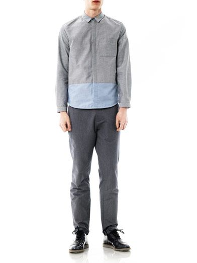 Richard Nicoll Bi-colour Oxford shirt