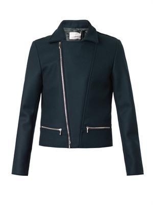 Melton-wool biker jacket