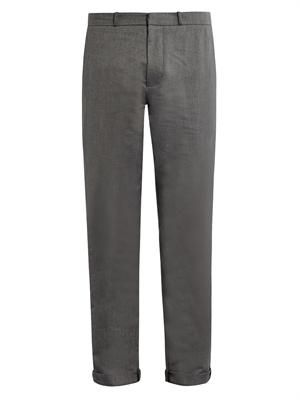 Cotton-twill chino trousers
