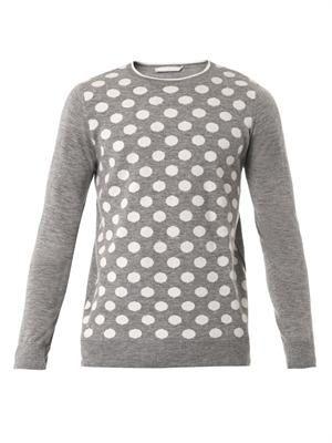 Polka-dot knit sweater