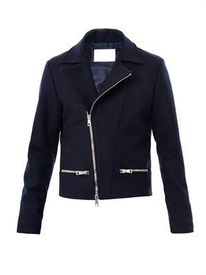 Wool Melton biker jacket