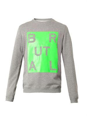 Brutal-print sweatshirt