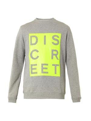 Discreet-print sweatshirt