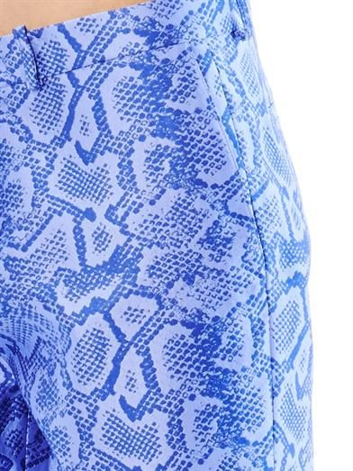 Richard Nicoll Snake-effect jacquard trousers