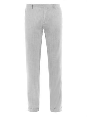 Tailored wool and silk-blend trousers