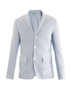 Oxford single-breasted blazer