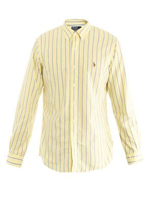 Custom-fit stripe shirt