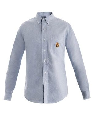 Crested-pocket Oxford shirt
