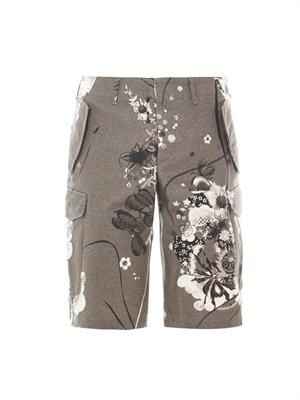 Levine floral-print tailored shorts