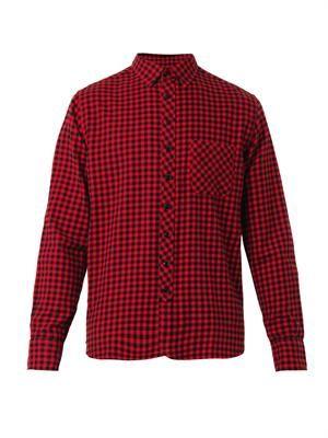 Check cotton-flannel shirt
