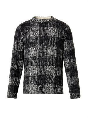 Theo melange-check sweater
