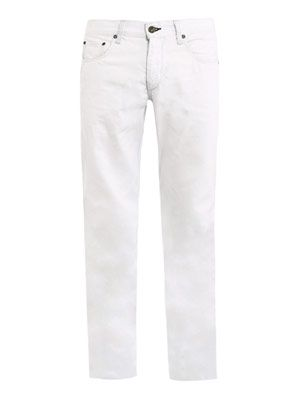 Bleach-out RB19X straight-leg jeans