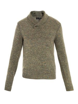 Hosie shawl collar sweater