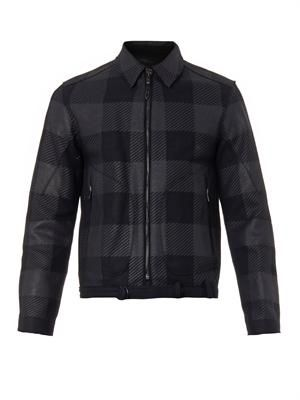 Kingsley checked wool-blend jacket