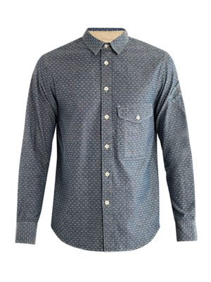 Dot denim shirt