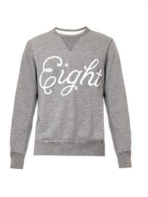 Eight-embroidered sweatshirt