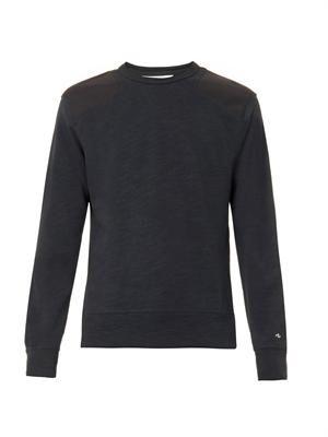 Contrast-panel jersey sweatshirt