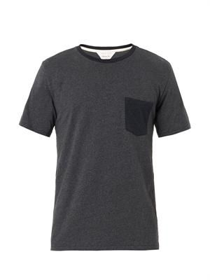 Colour-block pocket T-shirt