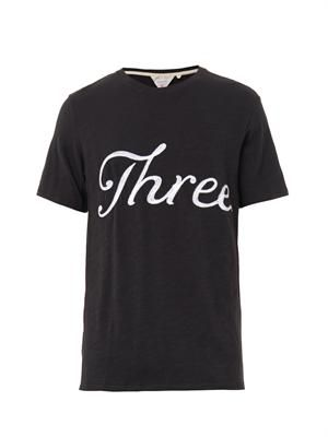 Embroidered Three cotton T-shirt
