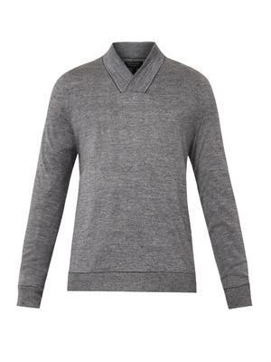 Emerson wrap-neck sweater