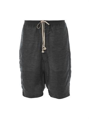 Textured linen and silk-blend shorts