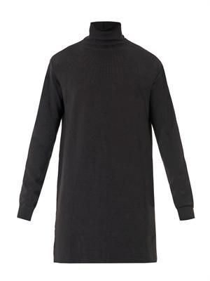 Long-length roll-neck sweater