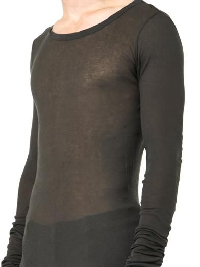 Rick Owens Crew-neck long-sleeved T-shirt