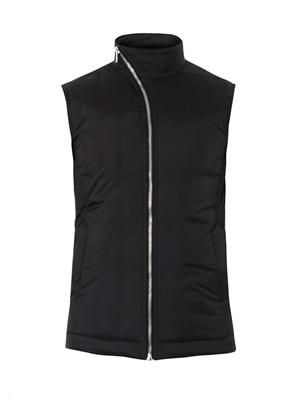 Quilted nylon gilet