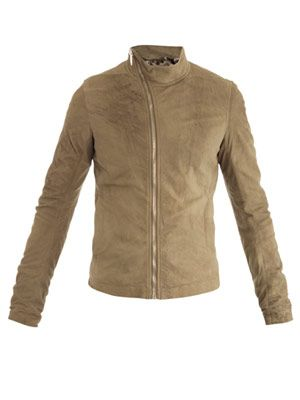 Leather Mollino bomber jacket