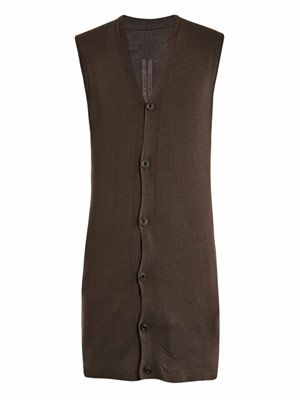 Cashmere sleeveless cardigan