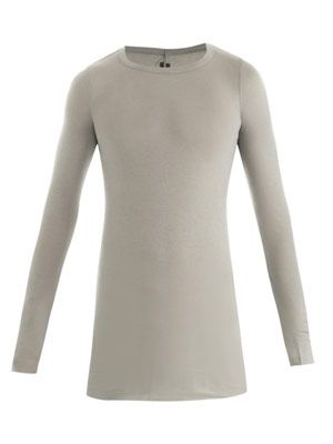 Ribbed long-sleeve T-shirt