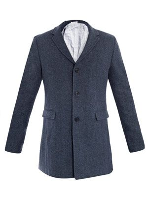 Single-breasted soft quilted coat