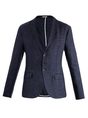 Linen single-breasted jacket