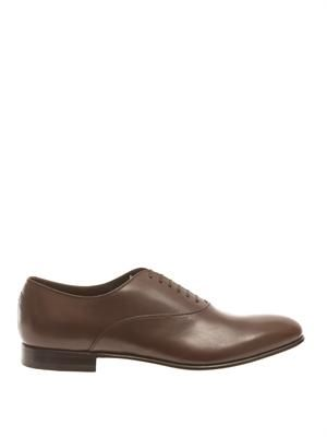 Lace-up leather oxford shoes