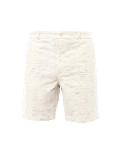 Steven Alan Flecked-cotton tailored shorts