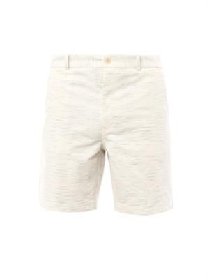 Flecked-cotton tailored shorts