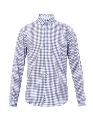 Single Needle gingham-print shirt