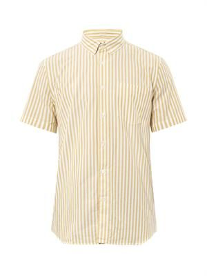 Single Needle stripe-print shirt