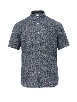 Single Needle floral-print shirt