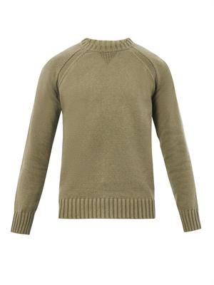 Crew-neck cotton sweater