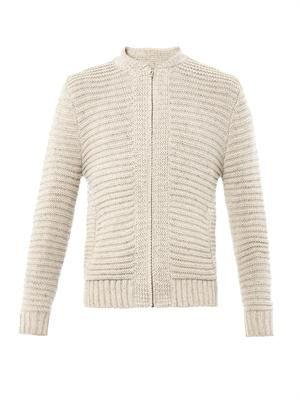 Albert zip-front cardigan