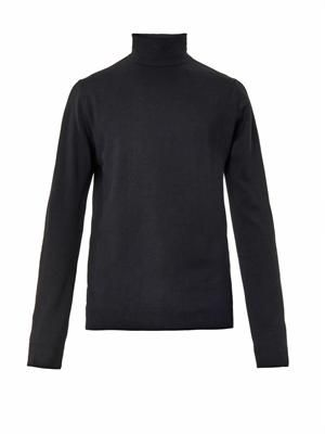 Roll neck merino-wool sweater