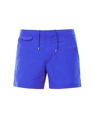 Front-pocket swim shorts