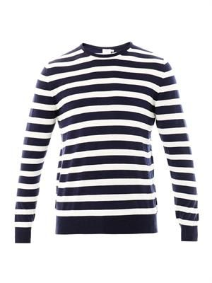 Stripe merino-wool sweater