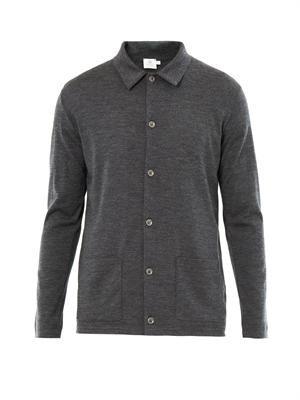 Long sleeve wool cardigan