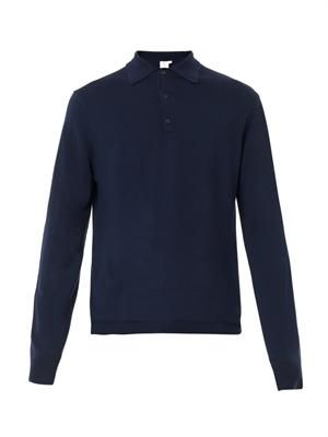 Merino-wool polo shirt