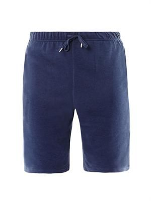 Jersey sweatpant shorts